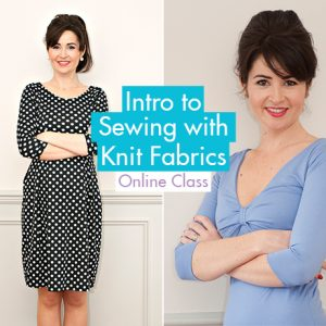 Intro to Sewing with Knit Fabrics Banner