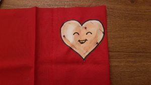 My Heart Pattern Pinned to the Fabric