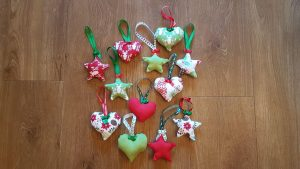 Ta-da: Some of my Finished Christmas Ornaments