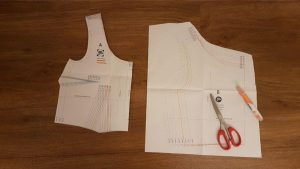 Sewing Pattern with Scissors
