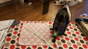 Ironing Board with Fabric and Tape Measure