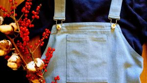 My Finished Pinafore DressCombined with a Navy Blue Sweater