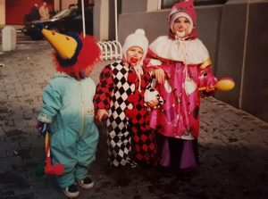 The Little Clown in the Middle Is Me. It Goes Without Saying That My Mum Has Also Made This Outfit.