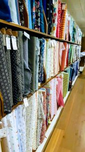 Selection of Fabric at John Lewis In London.