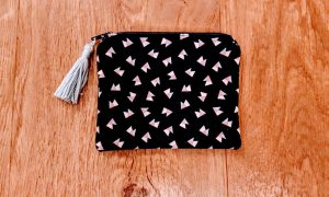 One of my little zip pouches with a tassel