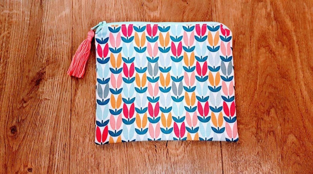 Finished Zip Pouch with Tassel