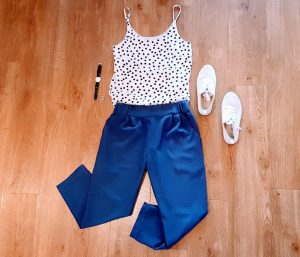 My Carrie Trousers: combined with a cami top and sneakers it's a great summer outfit.