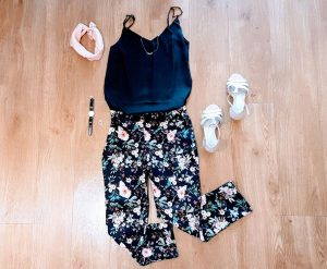 My Ultimate Trousers: combined with a cami top, high heels and hairband it's  an elegant outfit.