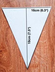 This is the measurement I've used for my template.