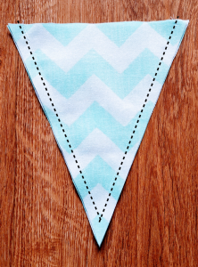 Sew the two sides of your triangle.