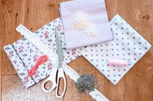 What you need to make lavender sachets