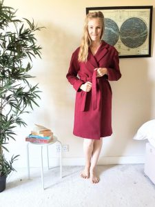 The Coat from The Avid Seamstress, vegan wool from Fabric Godmother